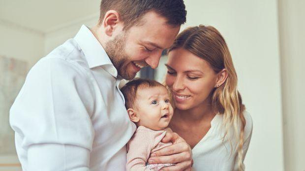 Paar mit Baby