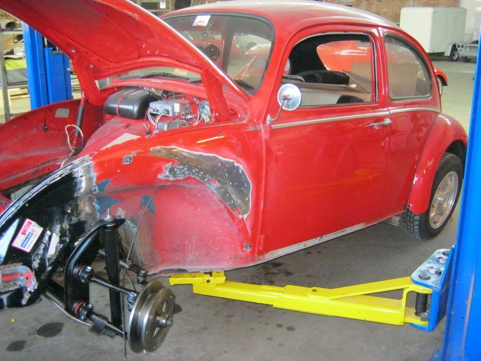 Wird es Dan gelingen, den 1966er Volkswagen Käfer trotz Unfallschaden wieder in neuem Glanz erstrahlen zu lassen? - Bildquelle: Javier Rivera New Dominion Pictures LLC.