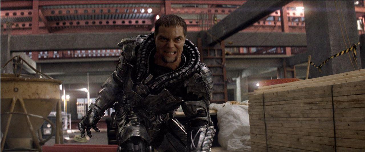 Der kriminelle General Zod (Michael Shannon) will auf der Erde ein neues Krypton erschaffen. Dazu muss die Menschheit vernichtet werden ... - Bildquelle: 2013 Warner Brothers