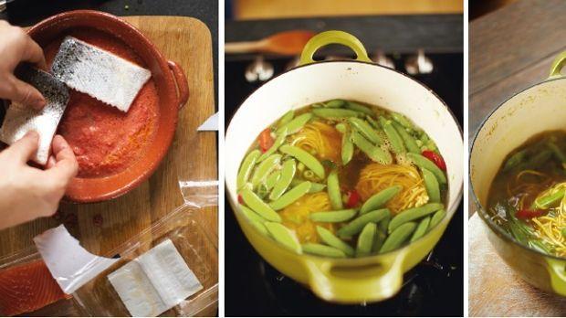 lachs auf asiatische art fisch rezept von jamie oliver. Black Bedroom Furniture Sets. Home Design Ideas