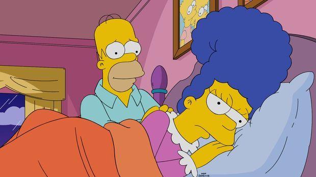 Aufgrund diverser Eskapaden von Homer (l.) ist Marge (r.) mal wieder mehr als...
