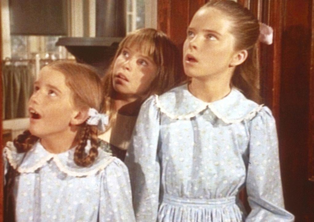 Auf der Geburtstagsfeier von Nellie Oleson befinden sich Laura (Melissa Gilbert, l.) und Mary (Melissa Sue Anderson, r.). - Bildquelle: Worldvision