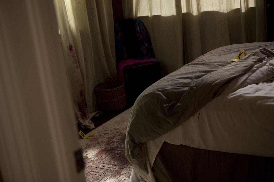 Tod einer jungen Mutter: Die Wände im Haus von Mordopfer Debi Whitlock sind blutverschmiert, doch bis auf eine Handtasche fehlt nichts oder ist fehl... - Bildquelle: Jeremy Lewis Cineflix 2010