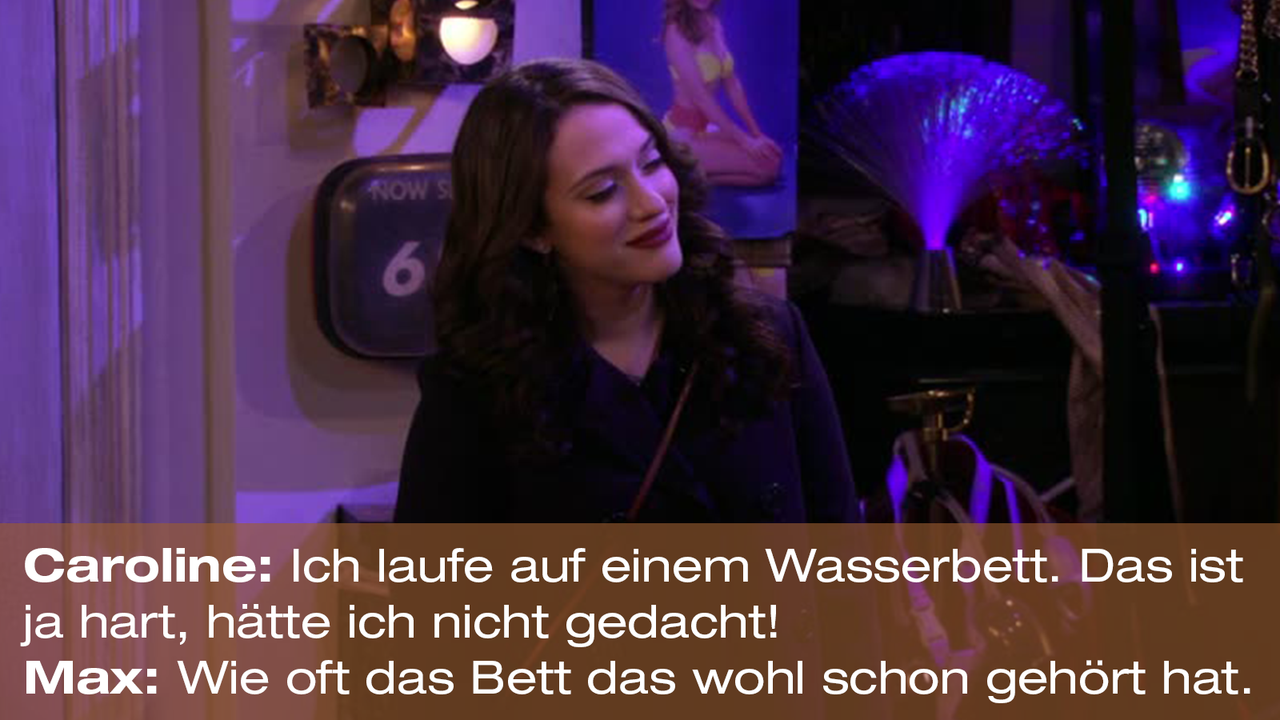 2-Broke-Girls-Zitat-Quote-Staffel2-Episode20-Das-Loch-in-der-Decke-Max-Bett-Warner - Bildquelle: Warner Bros. Television