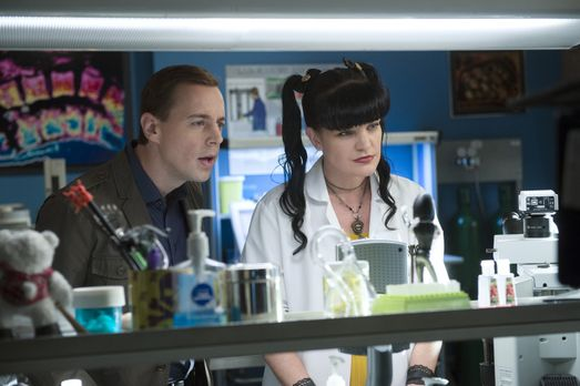 Navy CIS - Das Team um McGee (Sean Murray, l.) und Abby (Pauley Perrette, r.)...