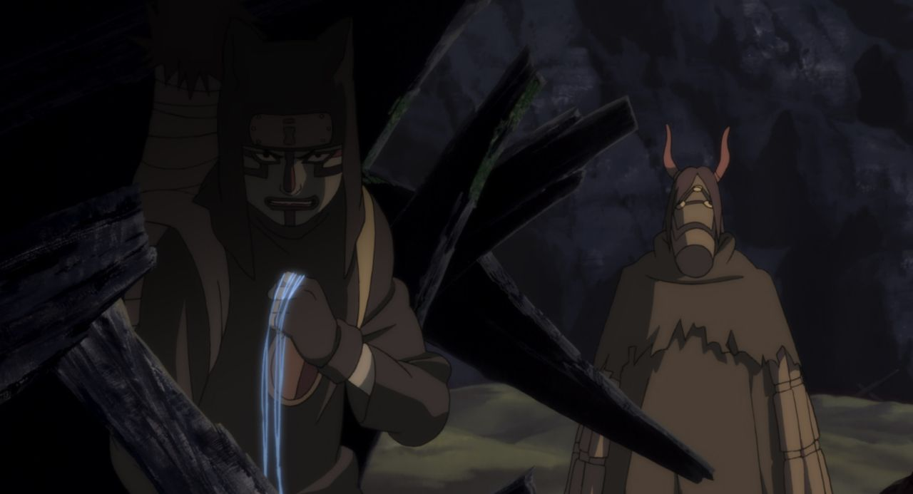 Nachdem Naruto und seine Freunde herausgefunden haben, wer hinter dem Angriff auf das Dorf steckt, müssen sie verhindern, dass der Stein von Gelel i... - Bildquelle: 2002 Masashi Kishimoto.   NMP 2005.