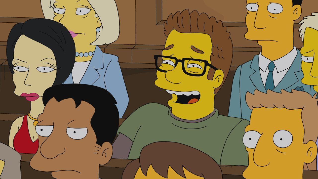 Die Einwohner von Springfield und viele Mitarbeiter der Hollywood-Industrie verfolgen gespannt den Prozess gegen Homer wegen Internet-Piraterie ... - Bildquelle: 2013 Twentieth Century Fox Film Corporation. All rights reserved.