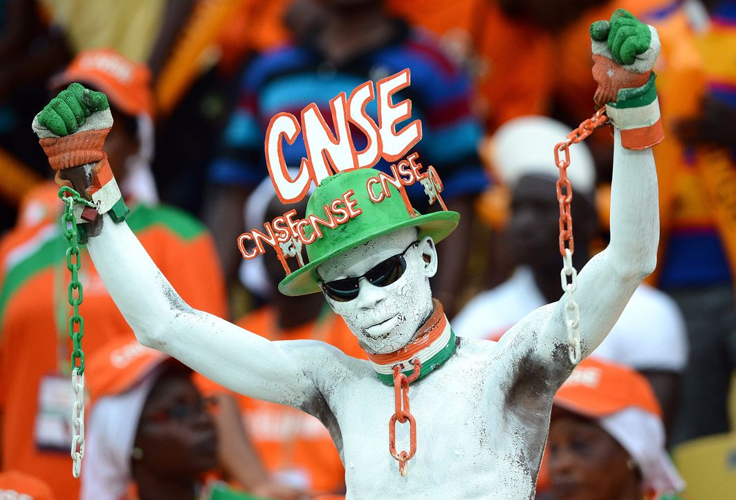 Die ivorischen Fans -2 - Bildquelle: Francisco Leong/AFP