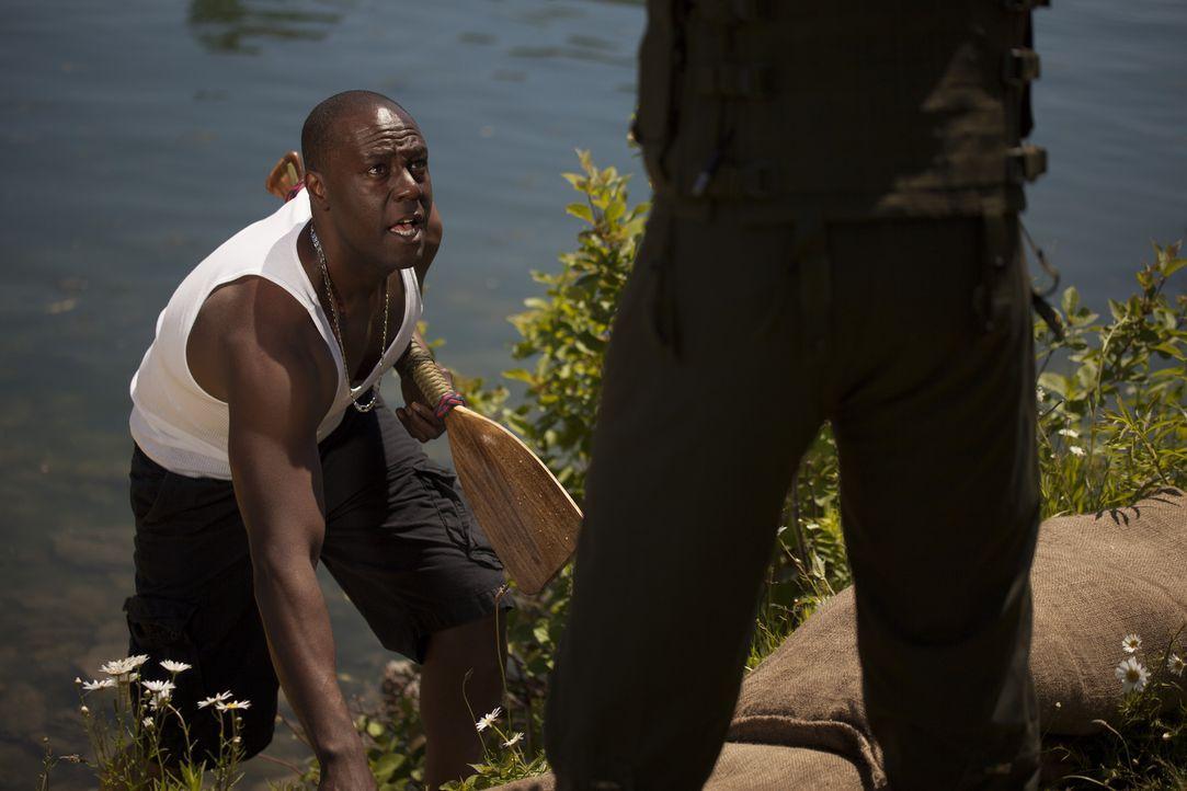 Der Recon Marinesoldat John Keller (Darsteller unbekannt) trifft im Jahre 2005, als Hurrikan Katrina über New Orleans hereinbricht, eine Entscheidun... - Bildquelle: DHH Productions Inc.