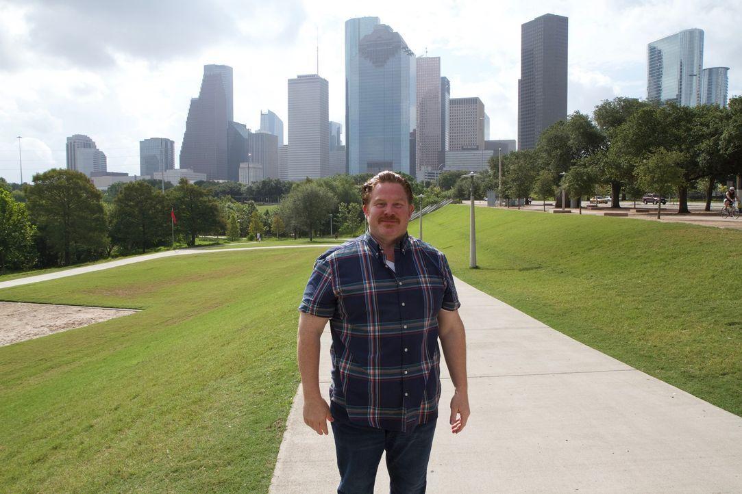 Natürlich stattet Casey auch dem Eleanor Tinsley Park, von dem man einen gigantischen Blick auf die Skyline von Houston hat, einen Besuch ab ... - Bildquelle: 2017,The Travel Channel, L.L.C. All Rights Reserved.