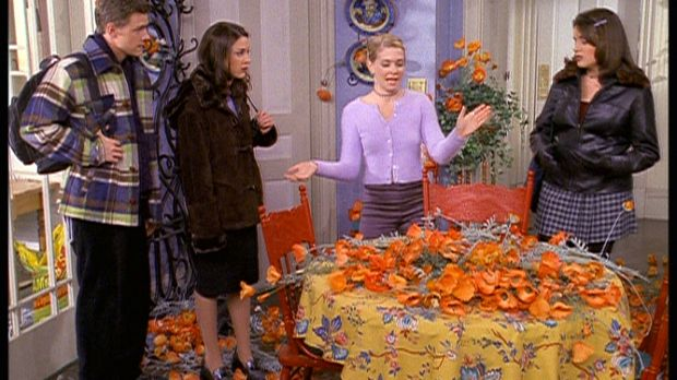 (v.l.n.r.) Harvey (Nate Richert), Valerie (Lindsay Sloane), Sabrina (Melissa...
