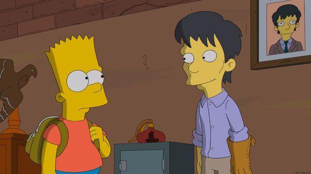 Bart Simpson (l.) ist fasziniert von seinem neuen Mitschüler Diggs (r.), auch...