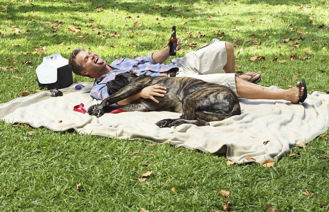 Das neue Trinkspiel zeigt seine Wirkung: Bobby (Brian Van Holt) ... - Bildquelle: 2010 ABC INC.
