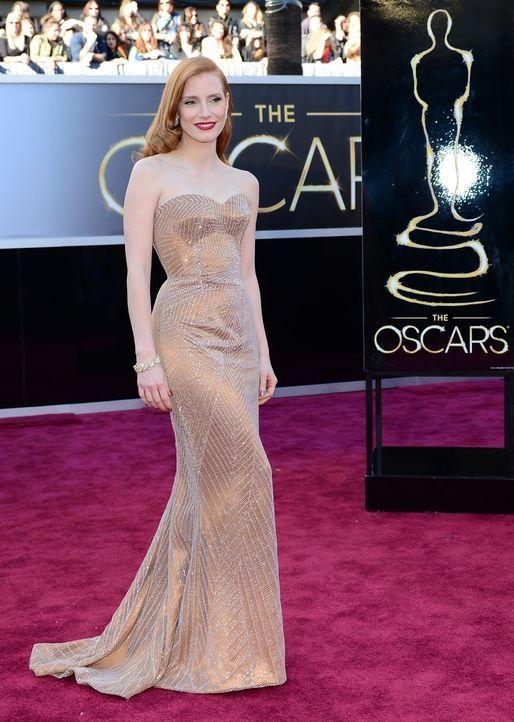 Jessica Chastain auf dem Red Carpet  - Bildquelle: AFP