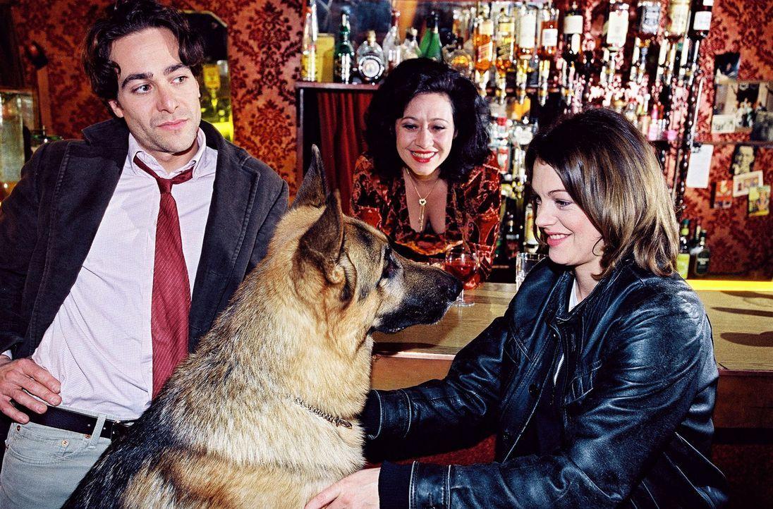 Marc (Alexander Pschill, l.) und Rex sorgen dafür, dass die Bardame (Andrea Händler, M.) Niki (Elke Winkens, r.) als Animierdame anheuert, obwohl... - Bildquelle: Sat.1