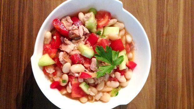 Weißer-Bohnen-Salat