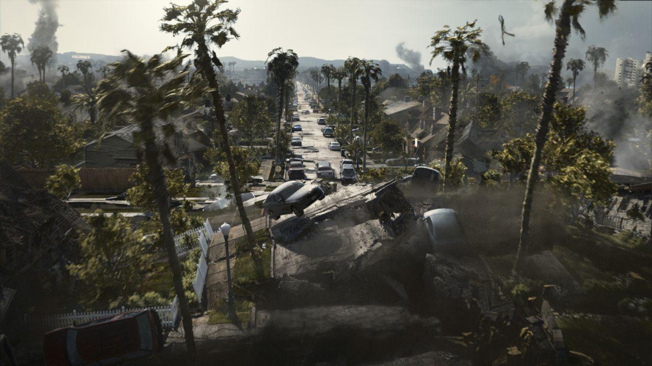 2012 - Die Erdkruste beginnt zu schmelzen, die tektonischen Platten der Erdkruste brechen auseinander. In der Folge kommt es zu Mega-Tsunamis, Vulka... - Bildquelle: 2009 Columbia Pictures Industries, Inc. All Rights Reserved.