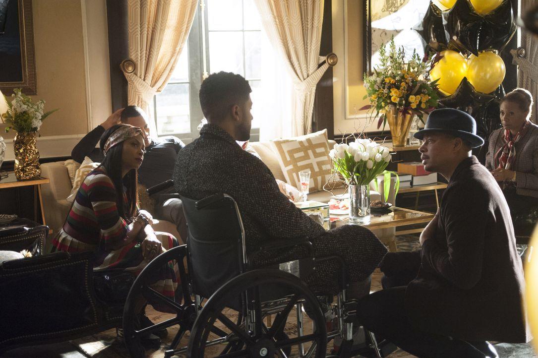 Bei seiner Willkommemsfeier nach seinem Krankenhausaufenthalt, teilt Jamal (Jussie Smollett, M.) seiner Familie mit, dass er erst wieder singen wird... - Bildquelle: 2015-2016 Fox and its related entities.  All rights reserved.
