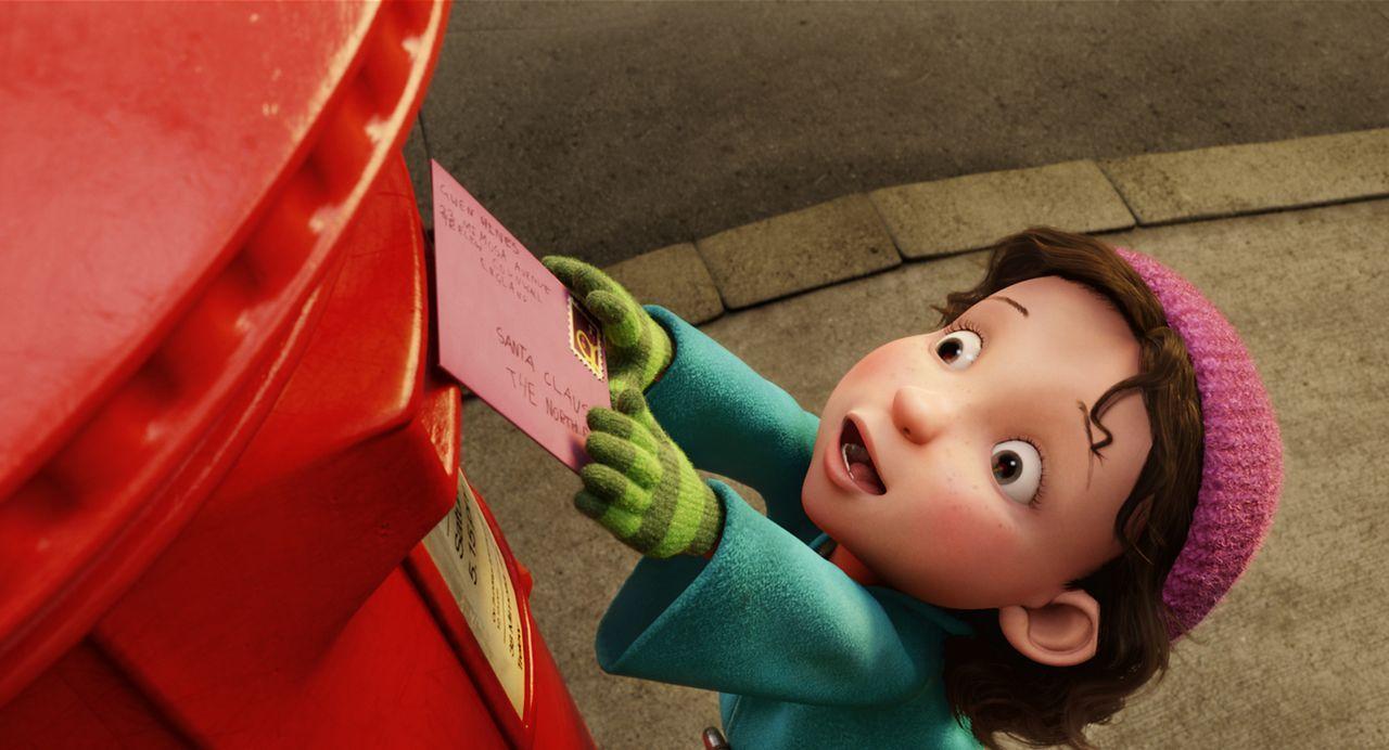 Als Gwen ihren Wunschzettel an den Weihnachtsmann schickt, ahnt sie nicht, dass das Weihnachtsfest durch Steve, den kapitalistischen Sohn des Weihna... - Bildquelle: 2011 Sony Pictures Animation Inc. All Rights Reserved.