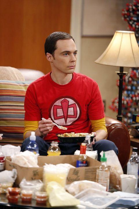 Sheldon (Jim Parsons) und Raj prüfen, ob sie eine Forschungsexpedition in eine Salzmine überleben würden, die sich mit Dunkler Materie befasst ... - Bildquelle: Warner Brothers