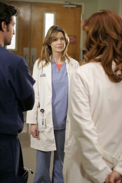 Keine schöne Angelegenheit: Meredith (Ellen Pompeo, M.) lernt Dereks (Patrick Dempsey, l.) Frau Addison (Kate Walsh, r.) kennen ... - Bildquelle: Touchstone Television