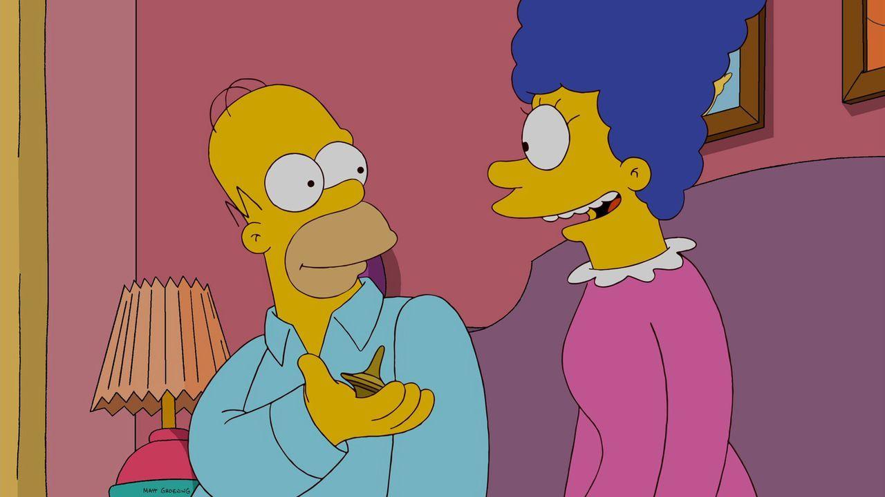 Nachdem Homer (l.) seine Freunde in Schwierigkeiten gebracht hat, wird er zum Bettnässer. Zusammen mit Marge (r.) macht er sich auf die Suche der U... - Bildquelle: und TM Twentieth Century Fox Film Corporation - Alle Rechte vorbehalten
