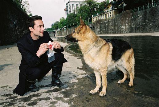 Rex bringt Marc (Alexander Pschill) ein verdächtiges Fundstück ... - Bildquel...