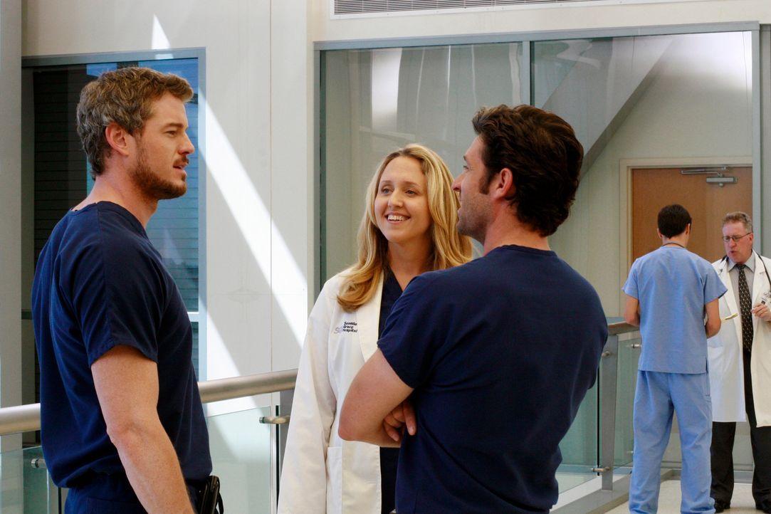 Als Erica (Brooke Smith, 2.v.l.) von dem Männerabend erfährt, eröffnet sie Richard, dass sie es diskriminierend findet, dass er nur Derek (Patric... - Bildquelle: Touchstone Television
