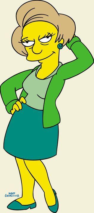 (15. & 16. Staffel) - Wirft sich in Pose: Barts Lehrerin Miss Krabappel. - Bildquelle: und TM Twentieth Century Fox Film Corporation - Alle Rechte vorbehalten