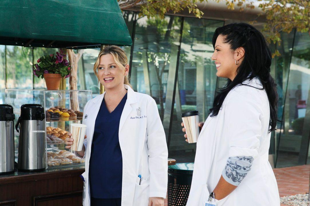 Beschließen gemeinsam, dem Seattle Grace Mercy West Hospital den Rücken zu kehren und nach Afrika zu gehen: Callie (Sara Ramirez, r.) und Arizona (J... - Bildquelle: ABC Studios