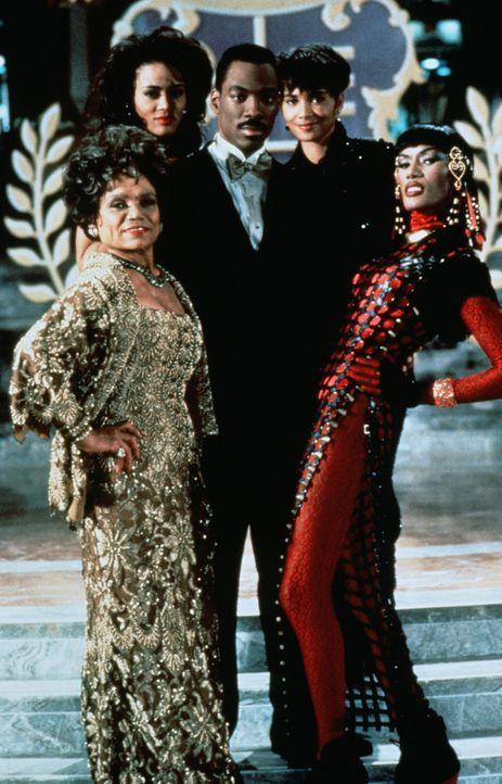 Umringt von schönen Frauen fühlt sich Marcus (Eddie Murphy, M.) am wohlsten: Jaqueline (Robin Givens, 2.v.l.), Lady Eloise (Eartha Kitt, l.), Stra... - Bildquelle: Paramount Pictures
