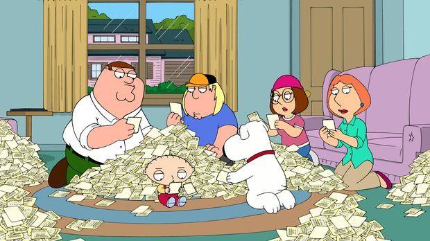 Peter (l.) nimmt eine Hypothek auf das Haus auf und kauft 200.000 Lose, um de...