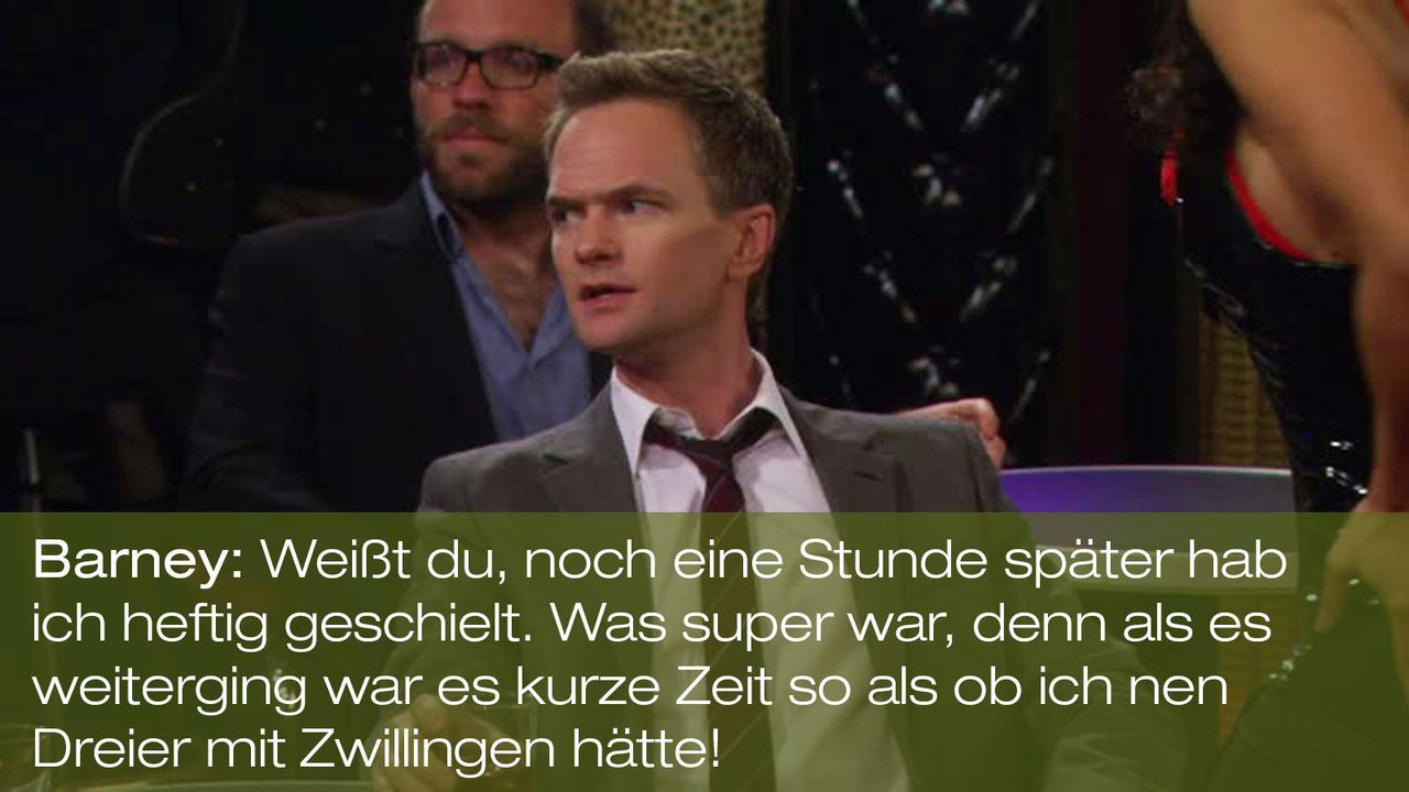 how-i-met-your-mother-zitat-episode-18-karma-barney-dreier-mit-Zwillingen-fox 1600 x 900 - Bildquelle: Fox