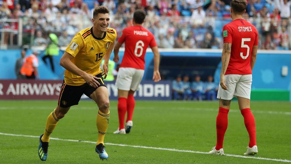 Thomas Meunier jubelt nach seinem Treffer zum 1:0 für Belgien - Bildquelle: 2018 Getty Images