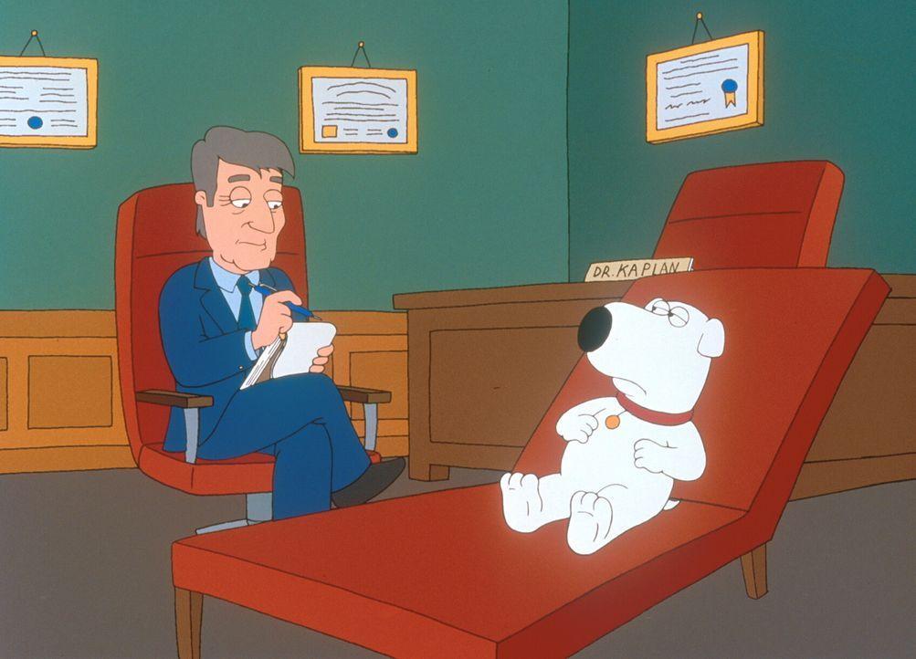 Da Stewie Brian hasst, pinkelt er im Haus überall hin und behauptet, dass es Brian gewesen ist. Daraufhin wird Brian (r.) von den Griffins zu einem... - Bildquelle: TM +   2000 Twentieth Century Fox Film Corporation. All Rights Reserved.