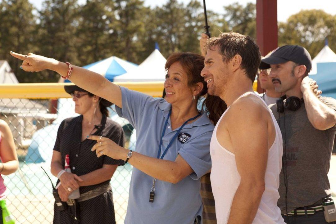 Am Set: (v.l.n.r.) Maya Rudolph, Sam Rockwell und Regisseur Jim Rash ... - Bildquelle: 2013 Twentieth Century Fox Film Corporation.  All rights reserved.