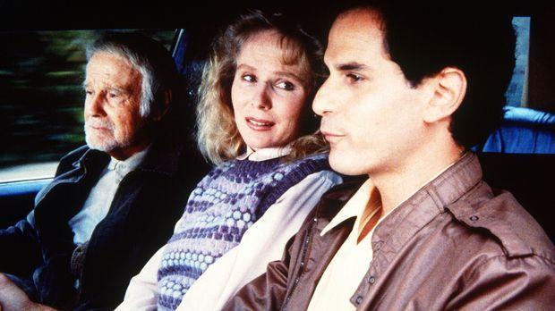 Frank (Lew Ayres, l.), Zoe (Laurie Prange, M.) und Todd Worton (David Eisner,...