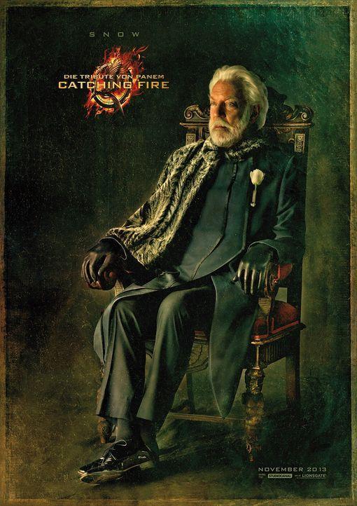Donald Sutherland als Präsident Snow in Catching Fire - Bildquelle: Studiocanal
