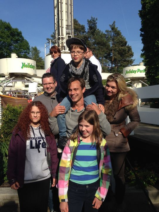 Gruppenfoto mit Besuchern