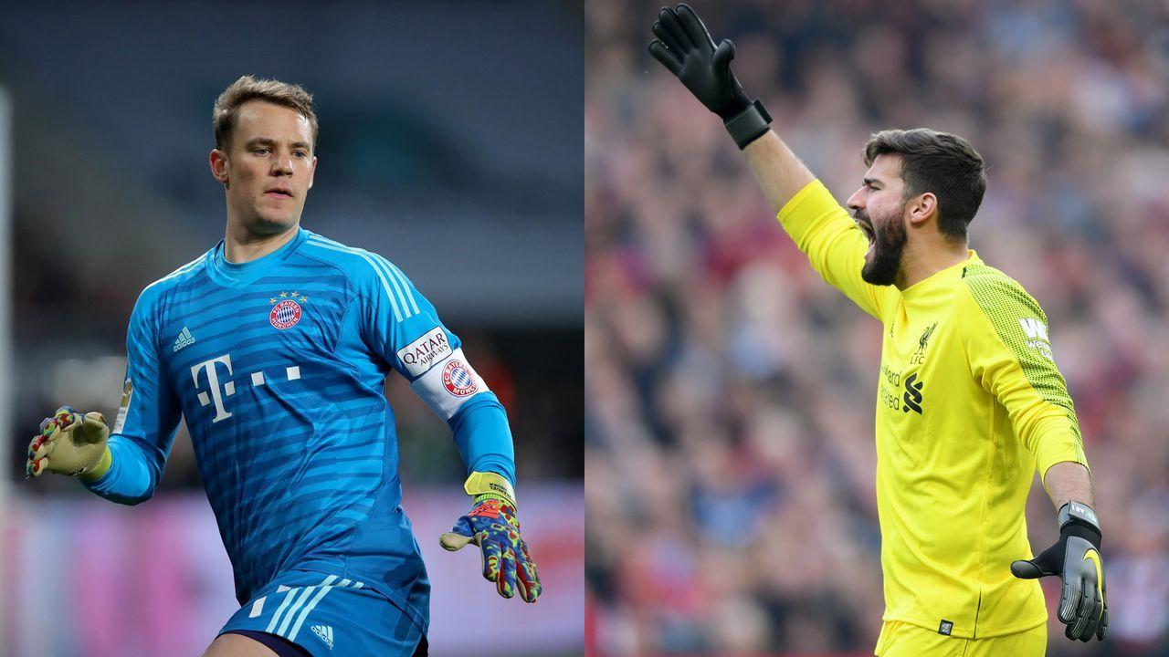 Tor: Manuel Neuer vs. Alisson Becker - Bildquelle: Getty Images