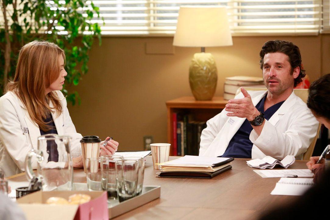 Derek (Patrick Dempsey, r.) und Meredith (Ellen Pompeo, l.) diskutieren die Neubesetzung der Chefposition ... - Bildquelle: ABC Studios