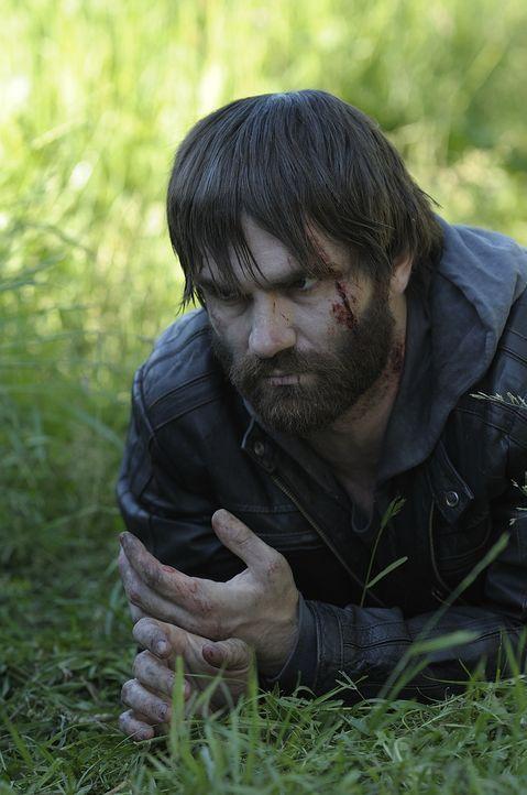 Aidan (Sam Witwer) kommt langsam zu Kräften, indem er sein eigenes Blut trinkt ... - Bildquelle: Phillipe Bosse 2013 B.H. 2 Productions (Muse) Inc. ALL RIGHTS RESERVED.