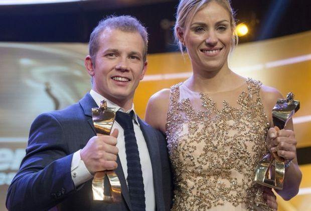 Hambüchen und Kerber (v.l.) sind die Sportler des Jahres 2016