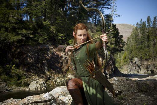 Der Hobbit: Smaugs Einöde - Tauriel (Evangeline Lilly), Waldelbin und Anführe...