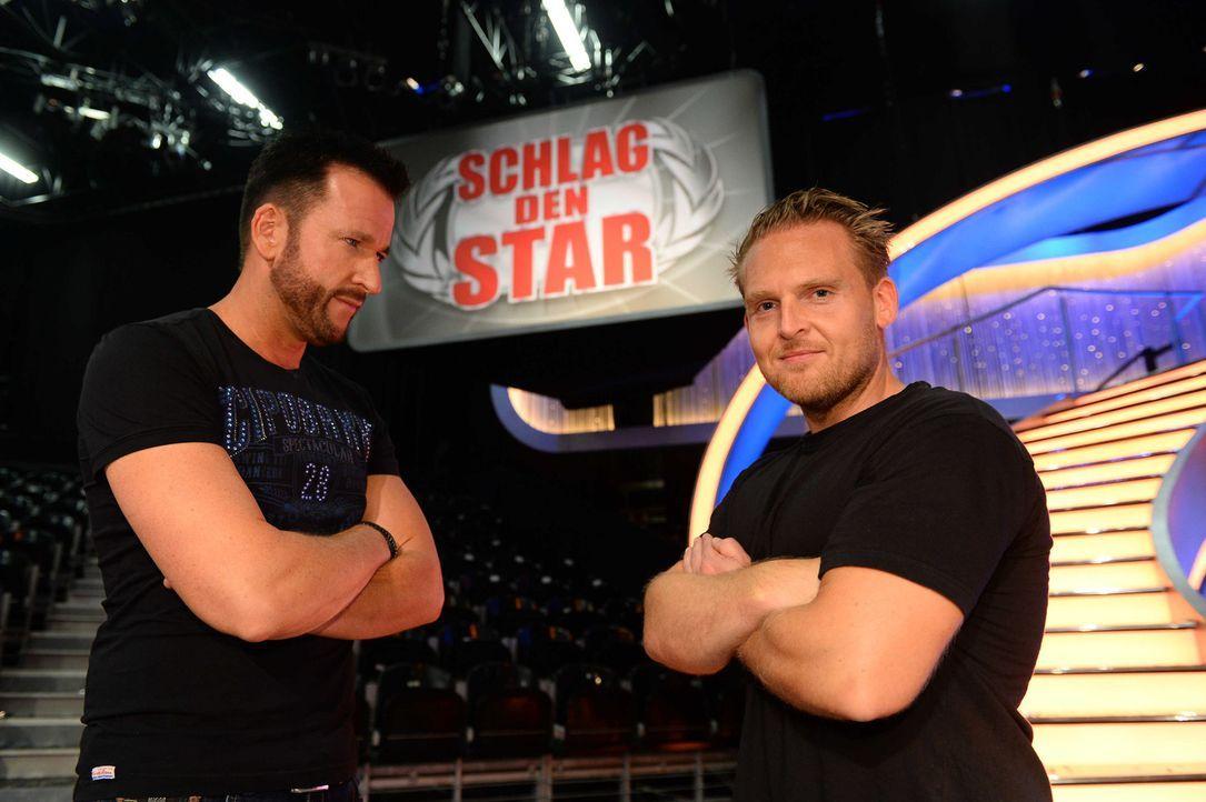 Treten gegeneinander an: Michael Wendler (l.) und Axel Stein (r.) ... - Bildquelle: Willi Weber ProSieben