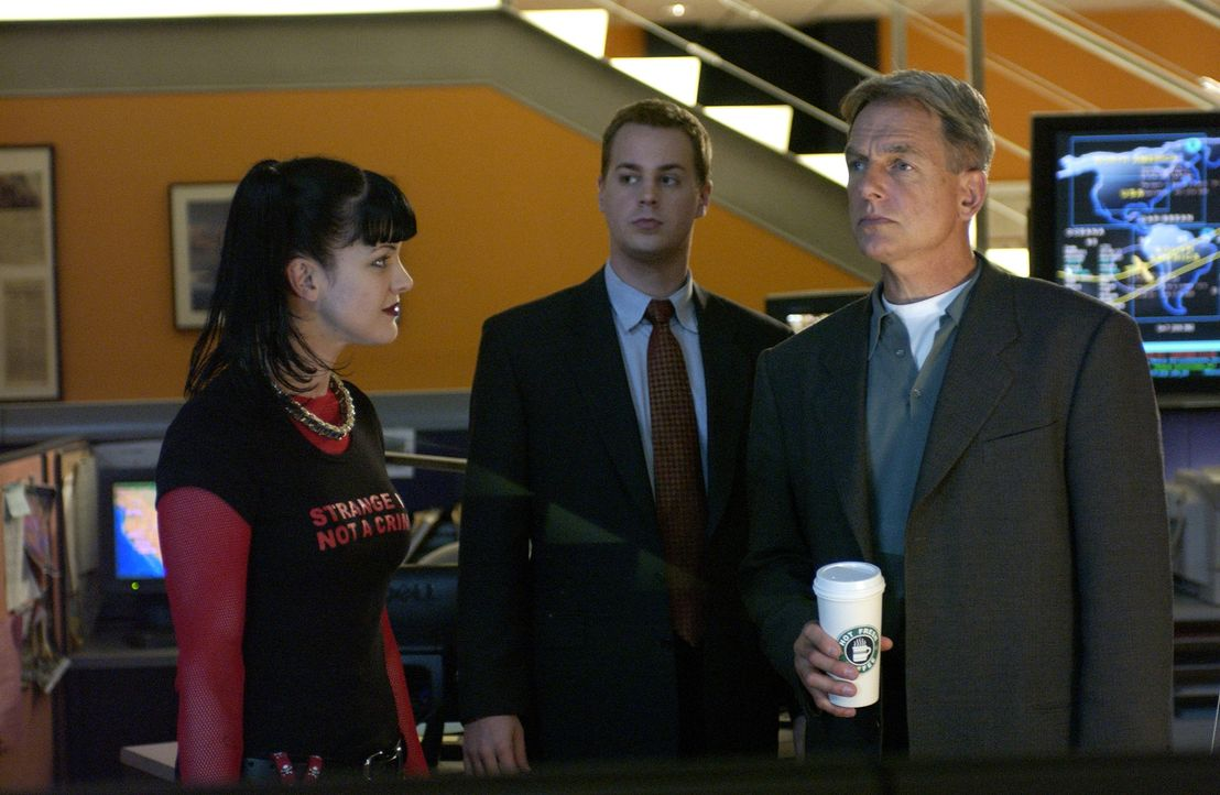 Auf der Suche nach dem Täter: Abby (Pauley Perette, l.), McGee (Sean Murray, M.) und Gibbs (Mark Harmon, r.) ... - Bildquelle: CBS Television
