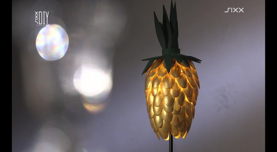 Ananas Lampe Aus Loffeln Diy Sixx De