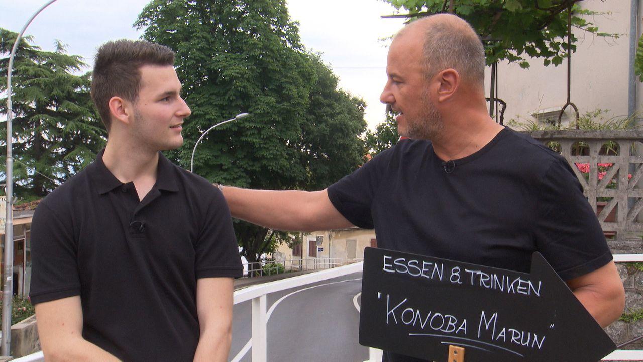 """2014 wanderten Sabine und Andreas Matthes mit ihren Söhnen Nico (l.) und Marc nach Kroatien aus. Dort übernahmen sie das """"Konoba Marun"""". Doch das Lo... - Bildquelle: kabel eins"""