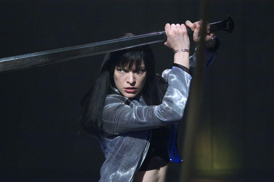 Nachdem die Regierung die Krankenschwester Violet (Milla Jovovich) zu einem Schwangerschaftsabbruch gezwungen hat, schwört die junge Frau blutige Ra... - Bildquelle: 2006 Screen Gems, Inc. All Rights Reserved.