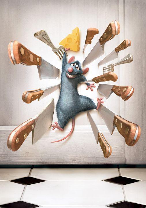 Wie kann die Ratte Remy aus dieser äußerst brenzligen Situation entkommen? - Bildquelle: Disney/Pixar.  All rights reserved